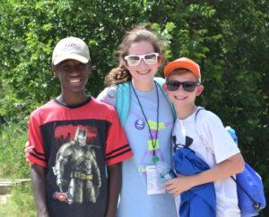 Three kids at Ceta Canyon camp