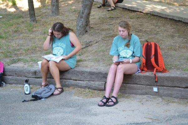 praying at summer camp