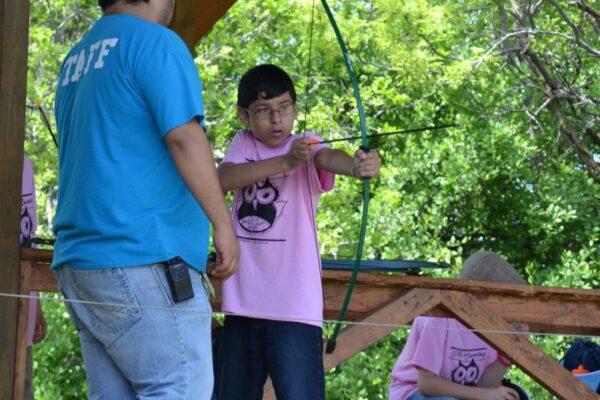 School Groups learning archery